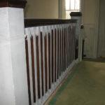 Image 2 of banister railing during refinishing