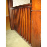 Image 1 of banister railing before refinishing
